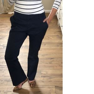Body By Victoria Wide Leg Navy Trouser